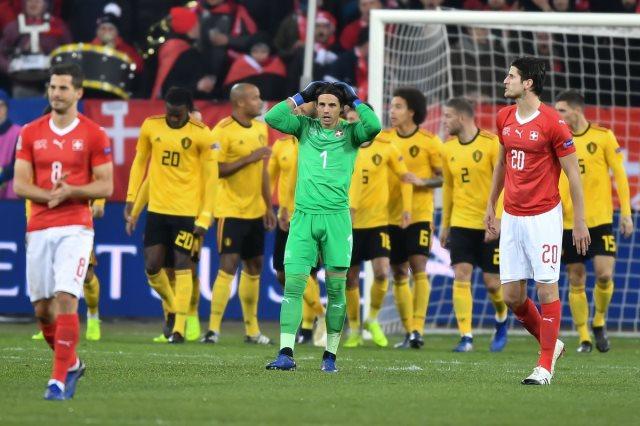 مشاهد من مباراة بلجيكا و سويسرا