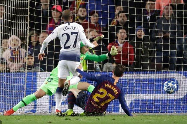مباراة برشلونة وتوتنهام