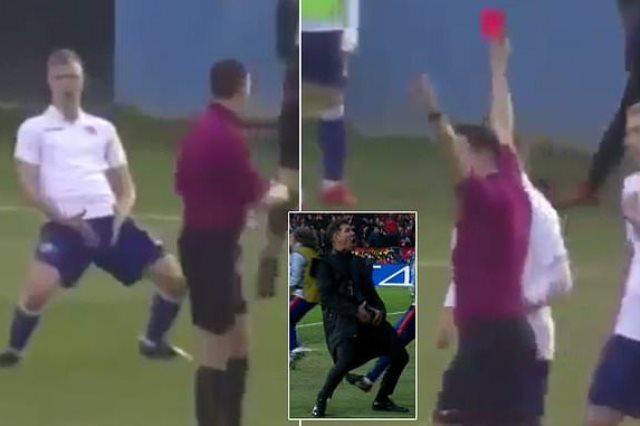طرد اللاعب الكرواتي