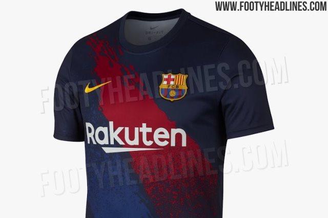 تسريب قميص التدريب الخاص ببرشلونة