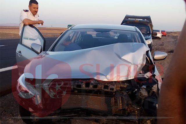 سيارة أحمد ياسر ريان بعد الحادث