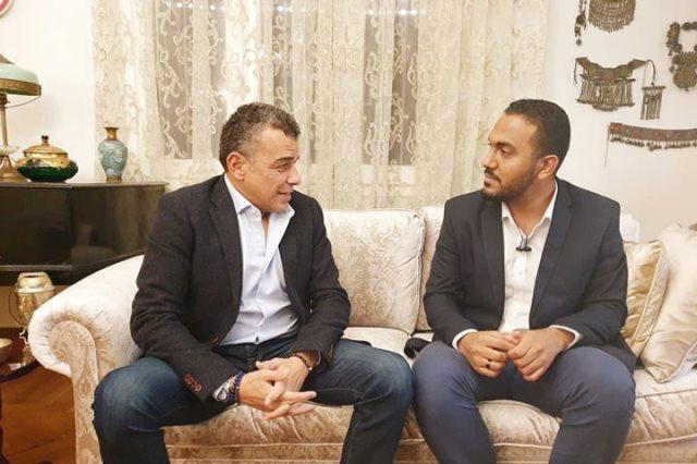خالد مرتجي والزميل محمد عراقي