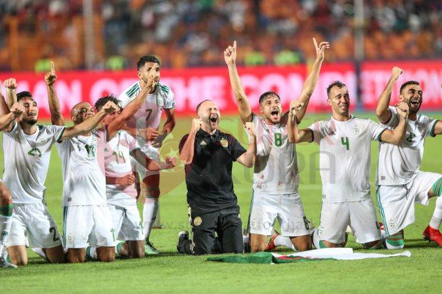 فرحة منتخب الجزائر