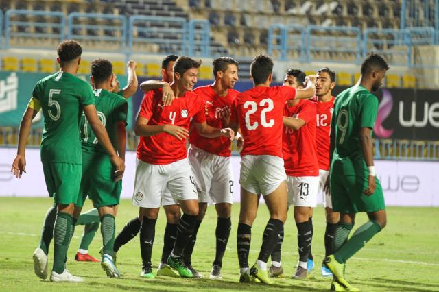 منتخب مصر الأولمبى مع السعودية