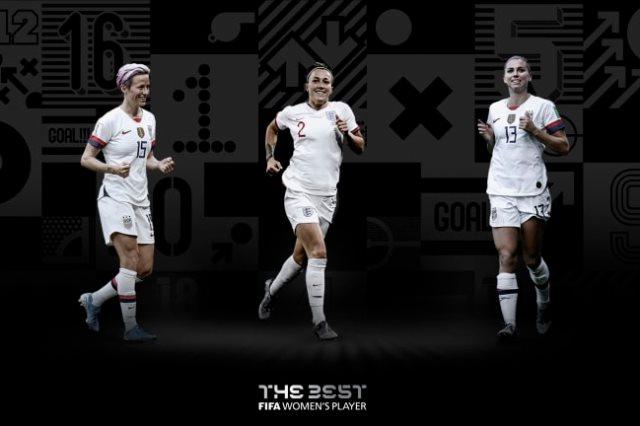 ثلاثى جائزة أفضل لاعبة فى العالم