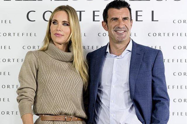 لويس فيجو وزوجته
