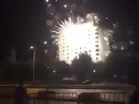 الشماريخ تضرب فندق اقامة فريق هايدوك سبليت الكرواتي
