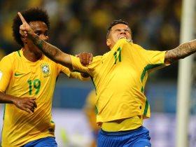 كوتينيو يبكي في مباراة البرازيل والاكوادور