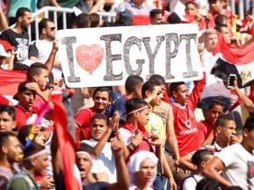 جماهير مصر في استاد برج العرب