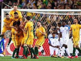 فرحة لاعبي استراليا