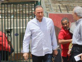 الخطيب يؤازر الأهلي في مران اليوم قبل رحلة الجزائر