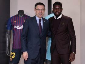 أومتيتى وبارتوميو رئيس برشلونة