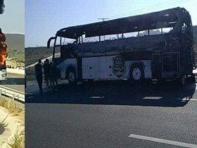 اشتعال النيران في حافلة وفاق سطيف قبل مواجهة الأهلي بإفريقيا