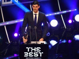 كورتوا يفوز بجائزة أفضل حارس فى عام 2018
