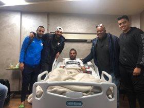 جنش يؤازر دويدار بعد العملية الجراحية