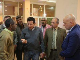 جولة وزير الرياضة في اسوان