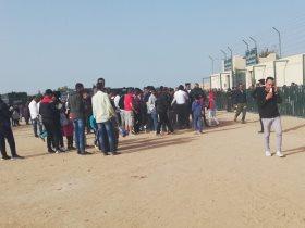 زحام شديد علي بوابات استاد الجونة قبل مباراة الأهلي