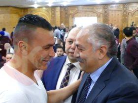 عصام الحضرى مع العامرى فاروق نائب رئيس الأهلى