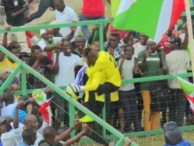 احتفال منتخب بوروندي