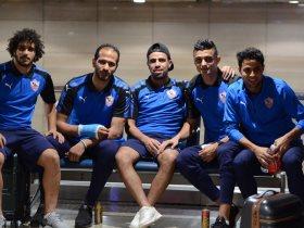 لاعبى الزمالك فى مطار القاهرة