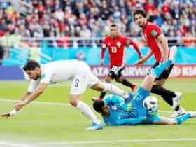 جانب من مباراة منتخب مصر ومنتخب أوروجواى