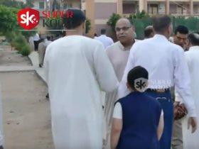 عمدة نجريج ينوب عن محمد صلاح فى صلاة العيد