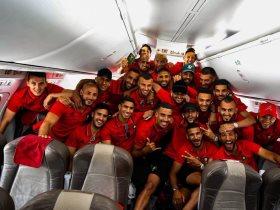 وصول منتخب المغرب الى مقر إقامته بالقاهرة