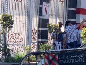 شيكابالا أمام بوابة نادي الزمالك