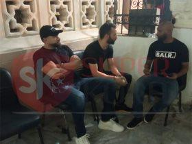 عمرو يوسف يقدم واجب العزاء لأحمد حسام ميدو