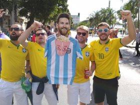 جماهير البرازيل تسخر من ميسي