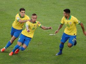 احتفال نجوم البرازيل