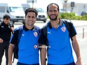 عماد السيد ومحمد ابراهيم لاعبا الزمالك