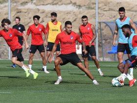 مشاهد من تدريب أتليتكو مدريد استعدادا للدورى الاسبانى