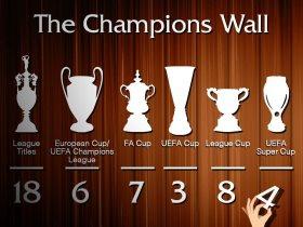 حائط بطولات ليفربول