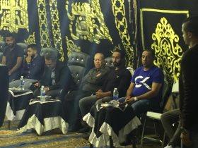 نجوم الرياضة في عزاء علاء علي