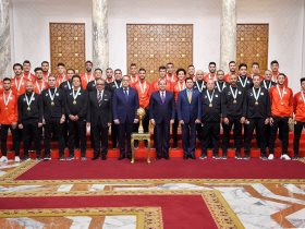 تكريم الرئيس عبد الفتاح السيسي للمنتخب الاولمبي فى الاتحادية