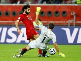 محمد صلاح خلال المباراة