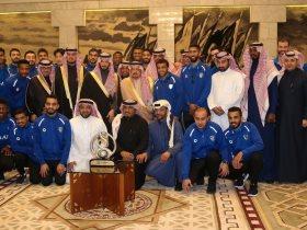 أمير الرياض يستقبل نجوم الهلال السعودى
