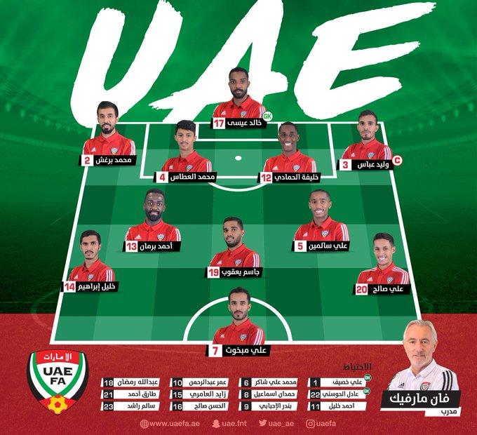 تشكيل منتخب الإمارات