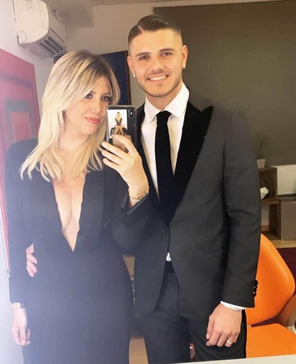 ايكاردي وزوجته واندا نارا