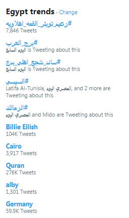 """هاشتاج """" زعيم تويتر القمة اهلاويه """" يجتاح تويتر مصر"""