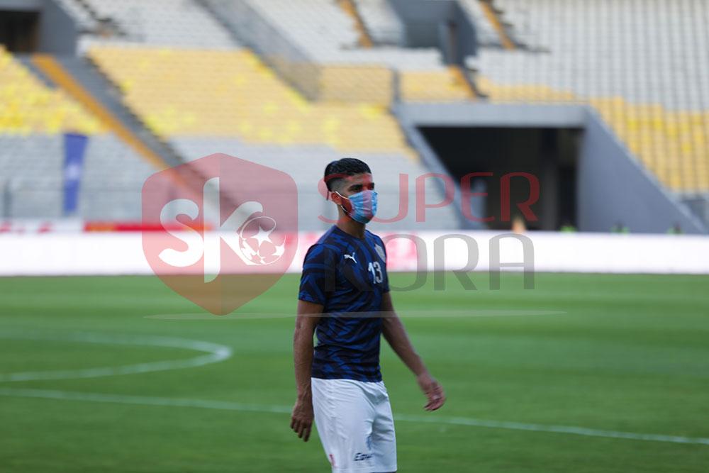 الزمالك ضد المصرى.. لاعبو الأبيض فى ملعب برج العرب (1)