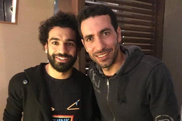 محمد أبو تريكة ومحمد صلاح