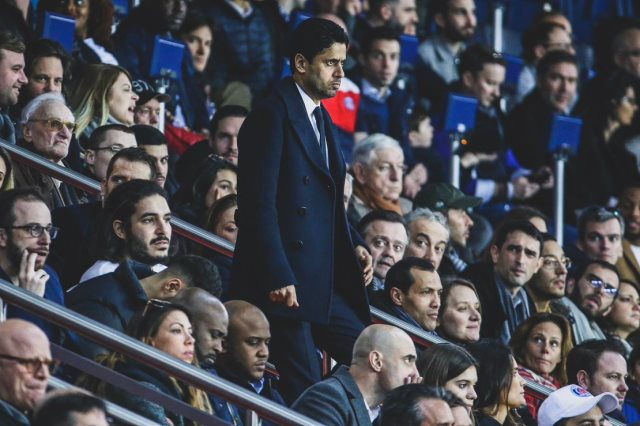 """محاكمة ناصر الخليفى، رئيس نادي باريس سان جيرمان، وشبكة """"بي إن سبورت"""" القطرية،"""