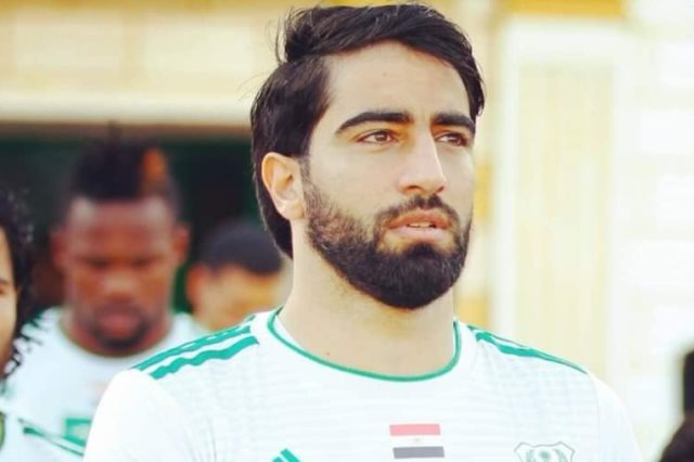 الفلسطينى محمد صالح مدافع النادى المصرى البورسعيدى