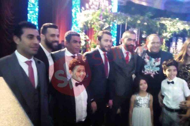 أحمد حسن فى حفل زفاف على جبر