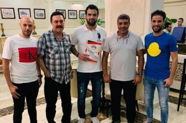 أحمد جعفر بعد التوقيع لحرس الحدود