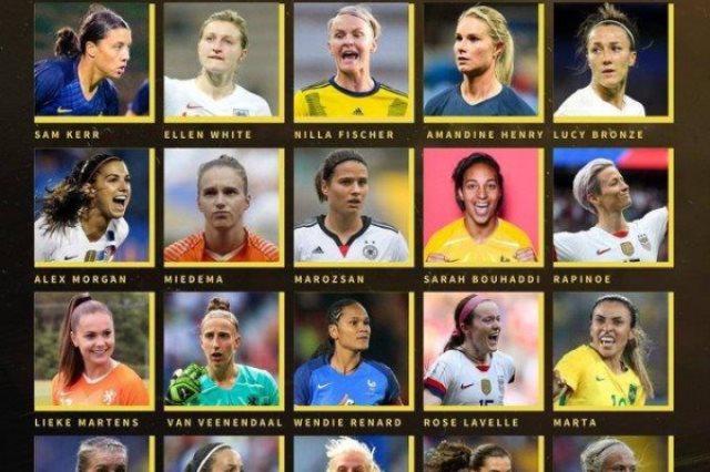 المرشحات لجائزة الكرة الذهبية لأفضل لاعب