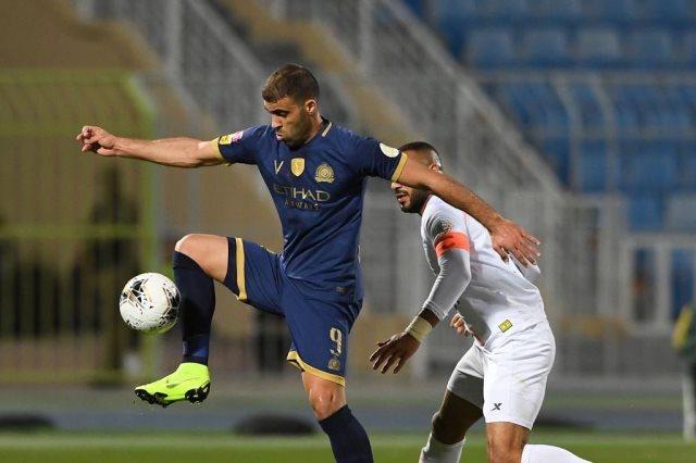 المغربي عبد الرزاق حمد الله مهاجم فريق النصر السعودي