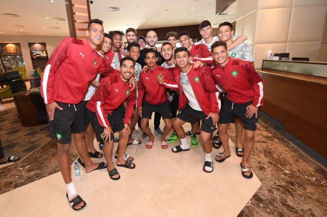 نور الدين امرابط يزور بعثة المنتخب المغربي لأقل من 20 سنة في  السعودية